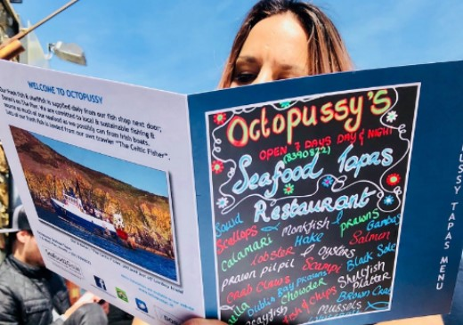 Octopussy's Seafood Tapas: Ultra fresh fish with a sea view